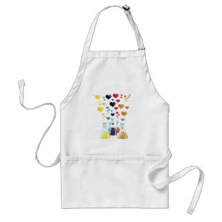 Chemistry Flask, Hearts - Red Blue Yellow Purple Apron