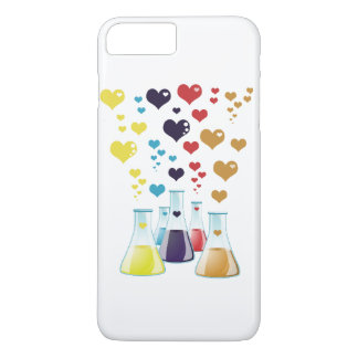 Chemistry Flask, Hearts - Red Blue Yellow Purple iPhone 8 Plus/7 Plus Case