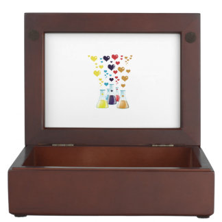Chemistry Flask, Hearts - Red Blue Yellow Purple Memory Box