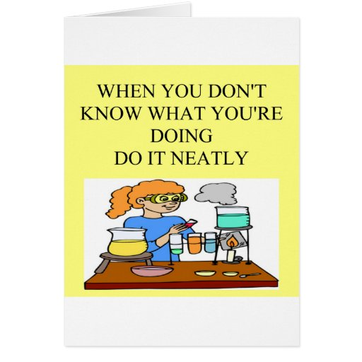 chemistry form over substance. greeting cards