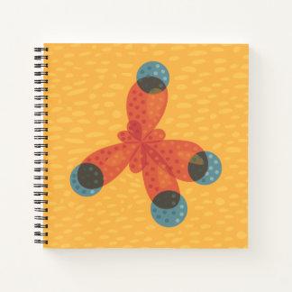 Chemistry Geek Orange Methane Molecule Notebook