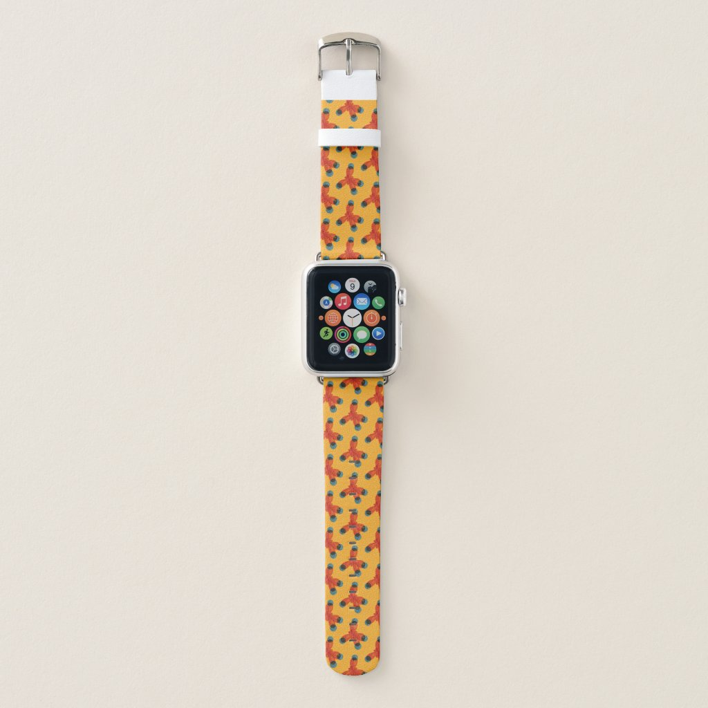 Chemistry Geek Orange Methane Molecule Pattern