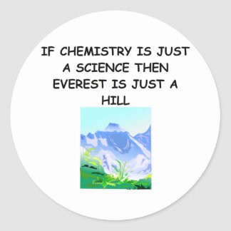 CHEMISTRY gifts Round Stickers