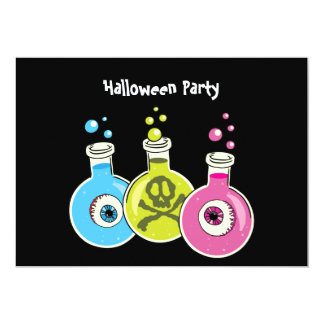 Chemistry Halloween Party Invitations