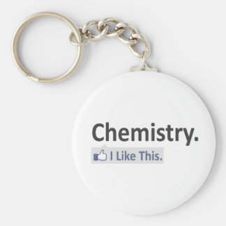 Chemistry...I Like This Basic Round Button Keychain
