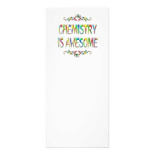 Chemistry is Awesome Custom Rack Card