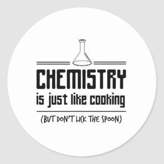 Chemistry Is Cooking Classic Round Sticker