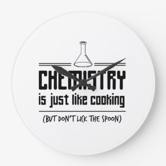 Chemistry Is Cooking Large Clock
