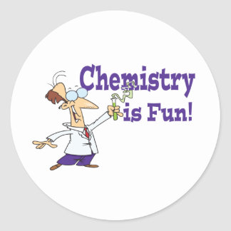 Chemistry is Fun Classic Round Sticker