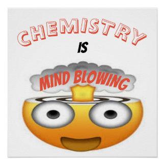 CHEMISTRY IS MIND BLOWING EMOJI POSTER
