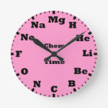 chemistry is pink clock