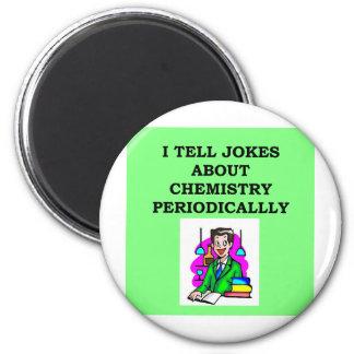 chemistry joke 2 inch round magnet