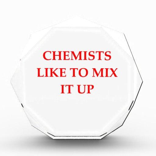 chemistry joke acrylic award