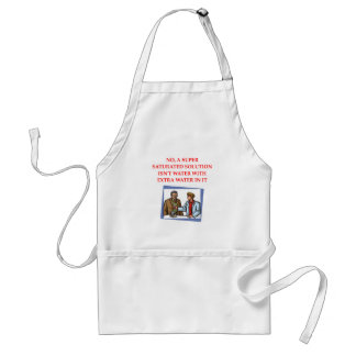 chemistry joke adult apron