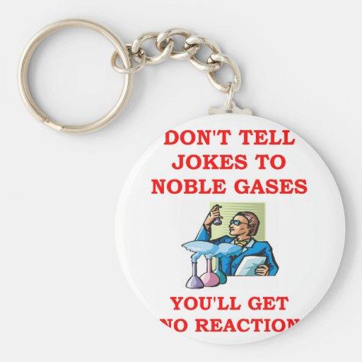 chemistry joke basic round button keychain