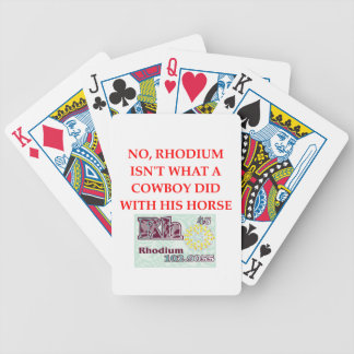 chemistry joke bicycle playing cards