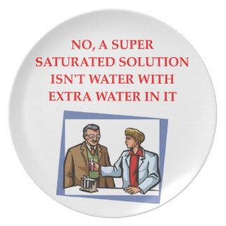 chemistry joke party plate