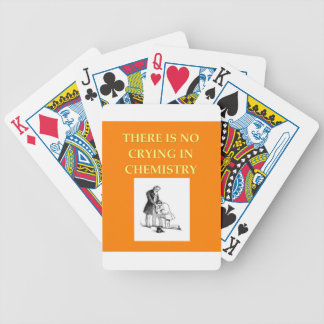 chemistry joke poker deck