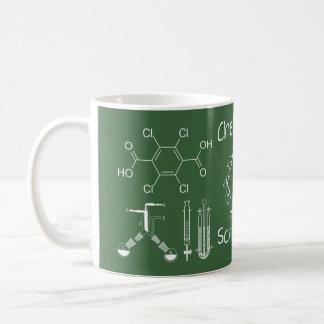 Chemistry Lab Equipment ~ Chalk On Green Board ~ Coffee Mug