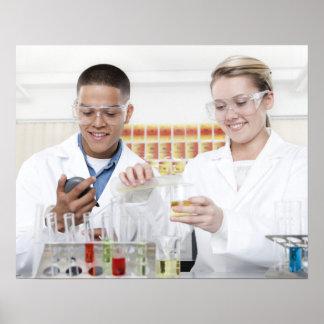 Chemistry lesson. 2 poster