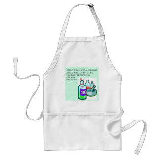 chemistry little willie rhyme adult apron