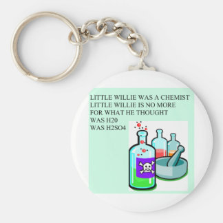 chemistry little willie rhyme keychain