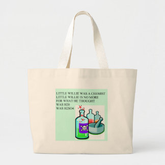 chemistry little willie rhyme large tote bag
