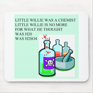 chemistry little willie rhyme mouse pad