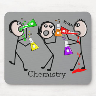 Chemistry Lovers Stick People Design Gifts Mouse Pad
