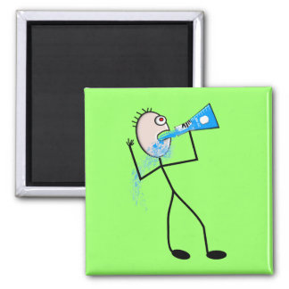 Chemistry Major Funny Stick Man Gifts 2 Inch Square Magnet