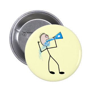 Chemistry Major Funny Stick Man Gifts Button