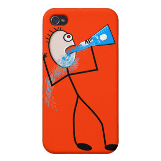 Chemistry Major Funny Stick Man Gifts iPhone 4 Case