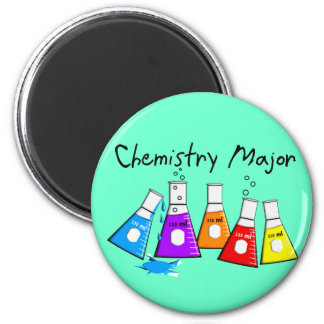 Chemistry Major Gifts Beeker Design 2 Inch Round Magnet