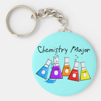 Chemistry Major Gifts Beeker Design Basic Round Button Keychain