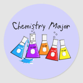 Chemistry Major Gifts Beeker Design Classic Round Sticker
