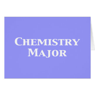Chemistry Major Gifts Card