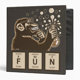 Chemistry monkey discovered fun 3 ring binder