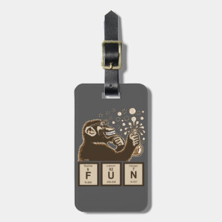 Chemistry monkey discovered fun bag tag
