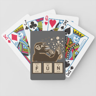 Chemistry monkey discovered fun bicycle playing cards