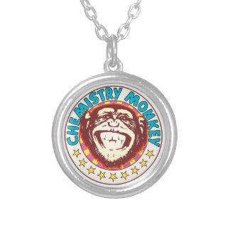 Chemistry Monkey Round Pendant Necklace