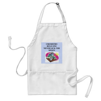 chemistry: never lick the spoon apron