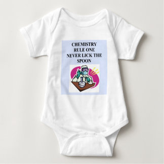 chemistry: never lick the spoon baby bodysuit
