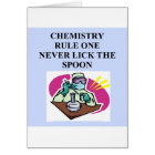 chemistry: never lick the spoon card