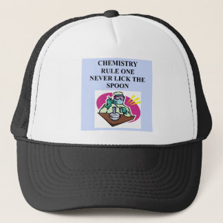 chemistry: never lick the spoon trucker hat