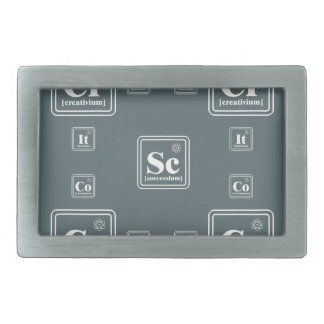 Chemistry of the business. belt buckle