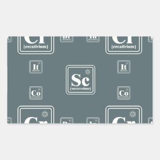 Chemistry of the business. rectangular sticker
