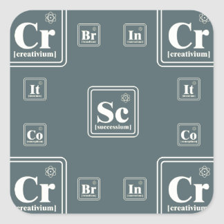 Chemistry of the business. square sticker