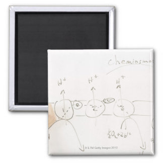 Chemistry on dry-erase board 2 inch square magnet