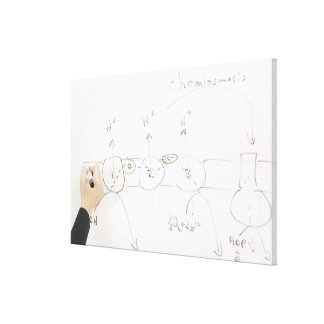 Chemistry on dry-erase board canvas print