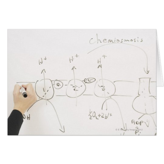 Chemistry on dry-erase board card